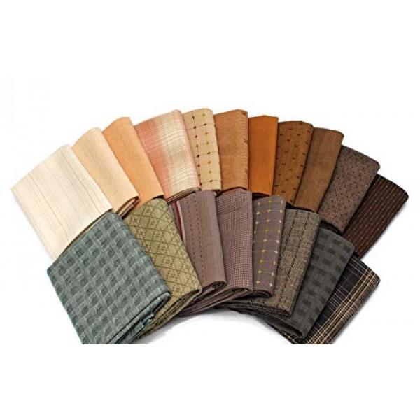 10 Fat Quarters - Textured Homespun Diamond Textiles Henry Glass A...