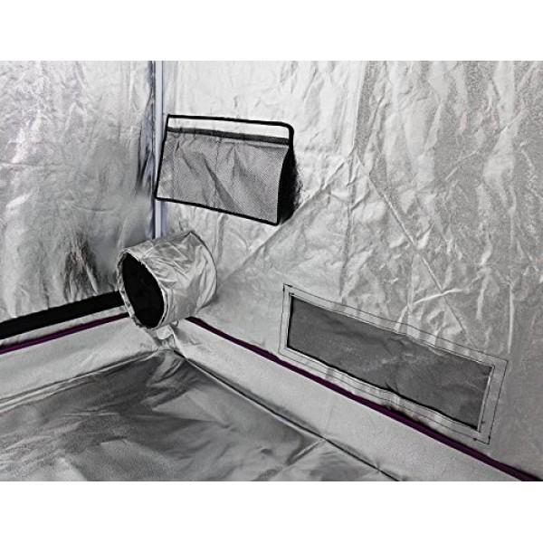 Finnhomy Grow Tent 96x 48x 80 600 D Mylar Hydroponic Grow Ten...