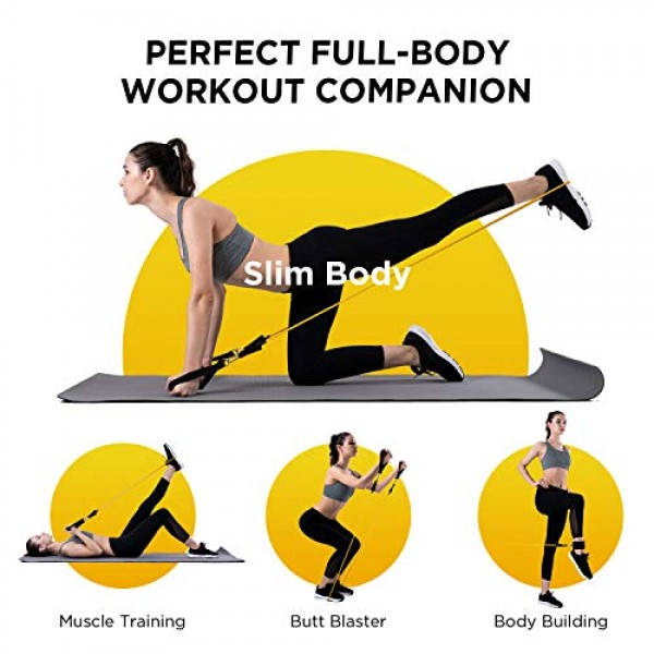 FITFORT Exercise Bands Workout Bands - Up to 150lb, Indoor/Outdoor...