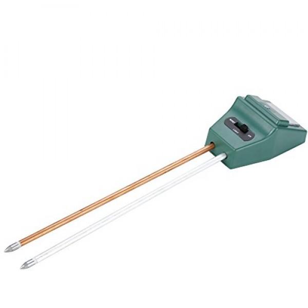 Flexzion Soil Moisture Sensor Meter Light pH Acidity Tester 3in1 G...