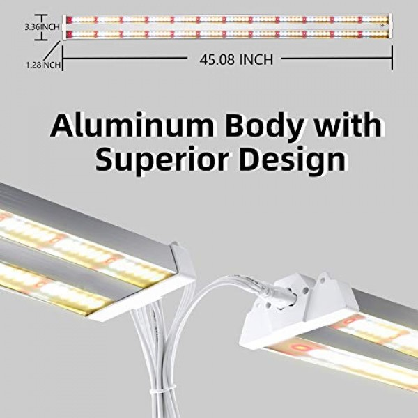 Freelicht 1 Pack 4ft LED Grow Light, 60W220W Equivalent, Sunlike...