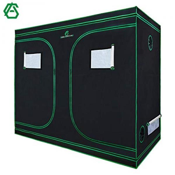GA Grow Tent,94x48x80 Reflective Mylar Hydroponic Grow Tent with O...