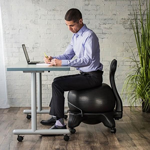 Gaiam Classic Balance Ball Chair – Exercise Stability Yoga Ball Pr...