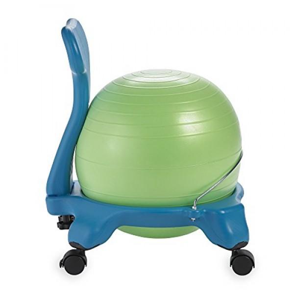 Gaiam Kids Balance Ball Chair - Classic Childrens Stability Ball ...
