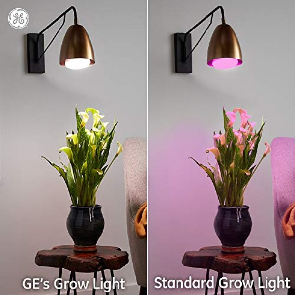 GE Lighting 93101230 9-Watt BR30 LED Grow Light Bulb for Indoor Pl...