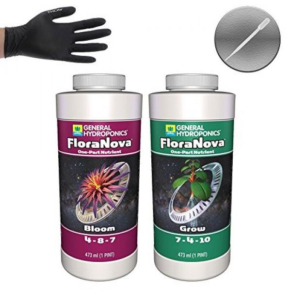 General Hydroponics FloraNova Grow & Bloom - 1 Pint Each