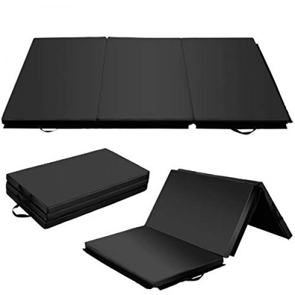 Giantex 6 x 4 Tri-Fold Gymnastics Mat Thick Folding Panel For Gy...