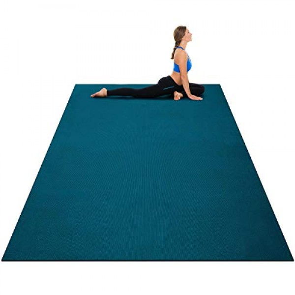 Goplus Large Yoga Mat, 7 x 5 x 8mm and 6 x 4 x 8mm with Straps...