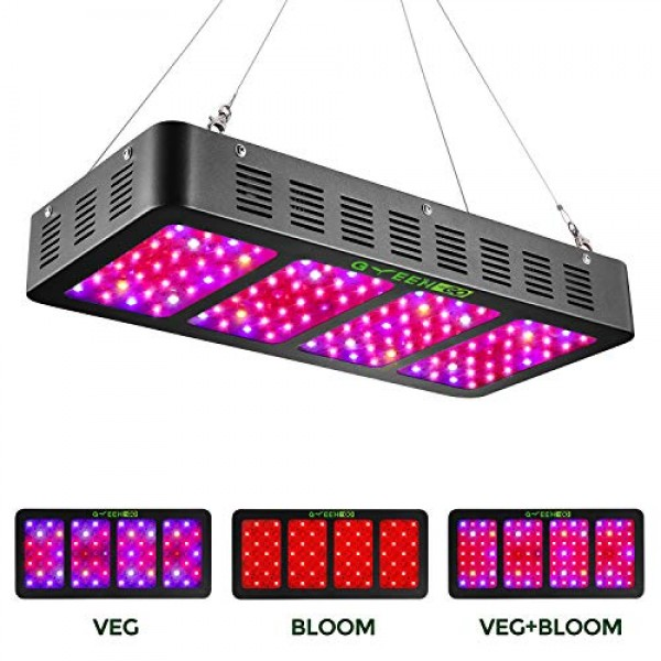 1200w LED Grow Light with Veg&Bloom Switch,GREENGO 3 Chips LED Pla...