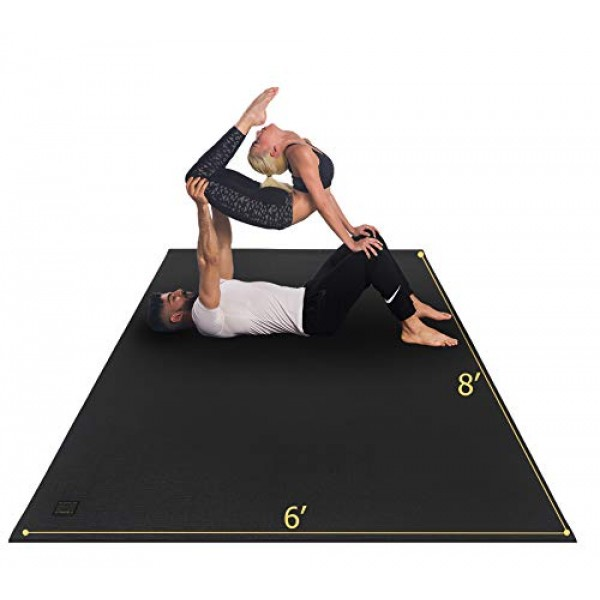 GXMMAT Extra Large Yoga Mat 6x8x7mm, Thick Workout Mats for Home...