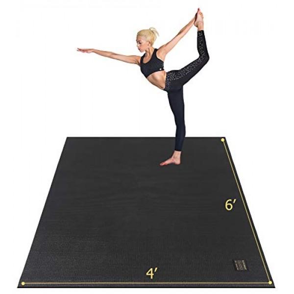 Gxmmat Large Yoga Mat 72x 486x4 x 7mm for Pilates Stretching...