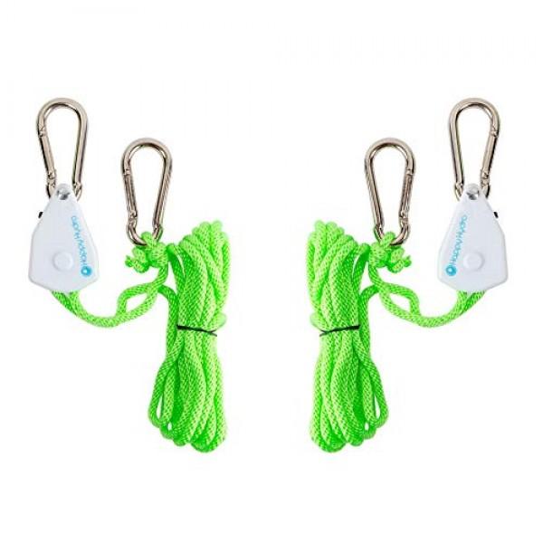Happy Hydro - Ratchet Light Hanger - Heavy Duty Rope Clip Hanger -...