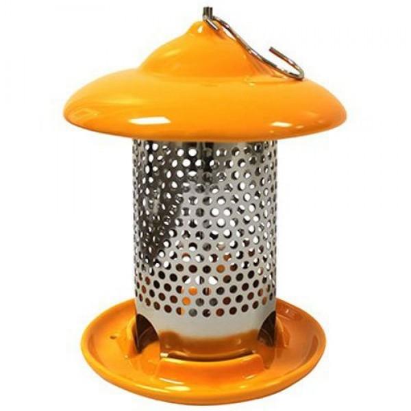 Heath Outdoor Products 20144 Bird Stop Ceramic Feeder, Orange