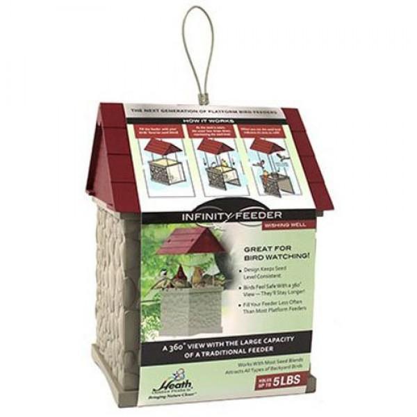 Heath Outdoor Products 2601 Wishing Well 360-Degree Bird Feeder, 5...