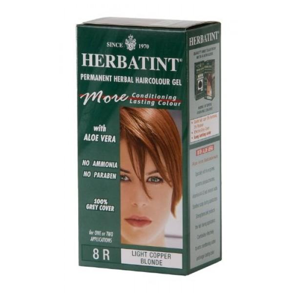 Herbatint Permanent Herbal Haircolour Gel 8R Light Copper Blonde -...