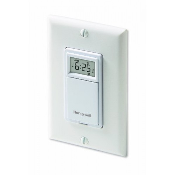 Honeywell RPLS530A 7-Day Programmable Timer Switch, White Require...