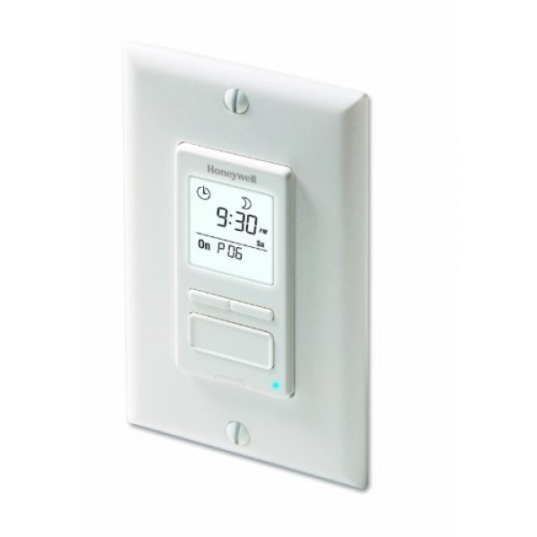 Honeywell RPLS540A ECONOSwitch Programmable Timer Switch, White R...