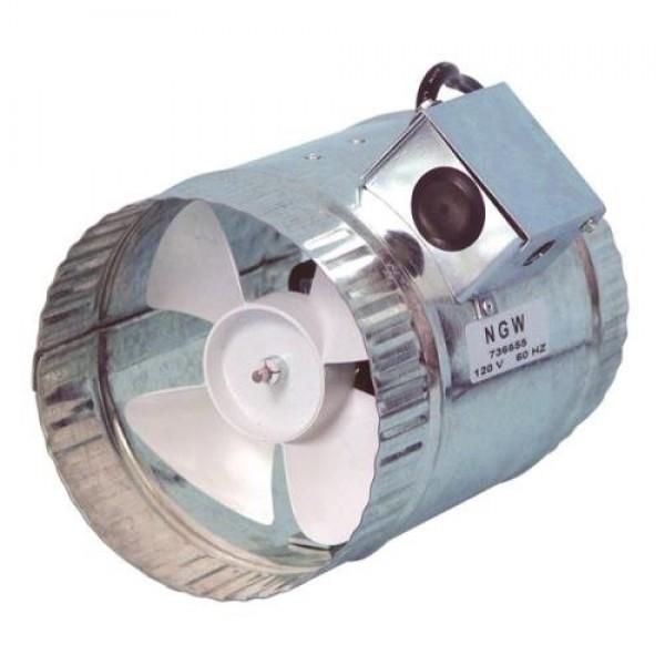 Hurricane 160 CFM Inline Duct Booster, 6-Inch
