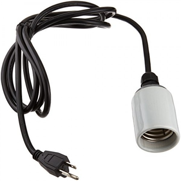 Hydrofarm Cord Set with Socket for Vertical Hanging, 8-Feet