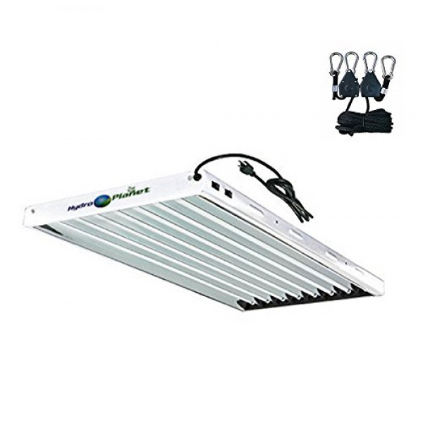 Hydroplanet T5 4ft 8lamp Fluorescent Ho Bulbs Included for Indoor ...