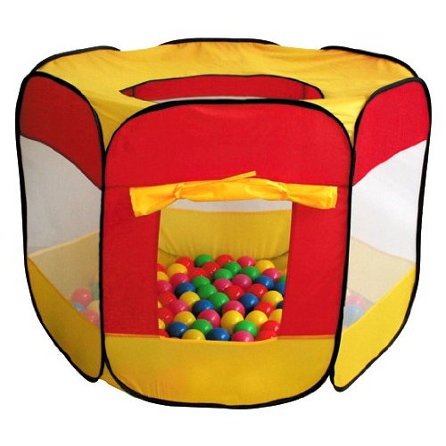 100-Pit-Ball Play Tent Popup Hexagon Mesh Kids House Twist Pool by...