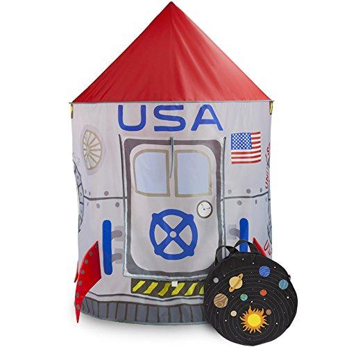 Space Adventure Roarin Rocket Play Tent with Milky Way Storage Ba...