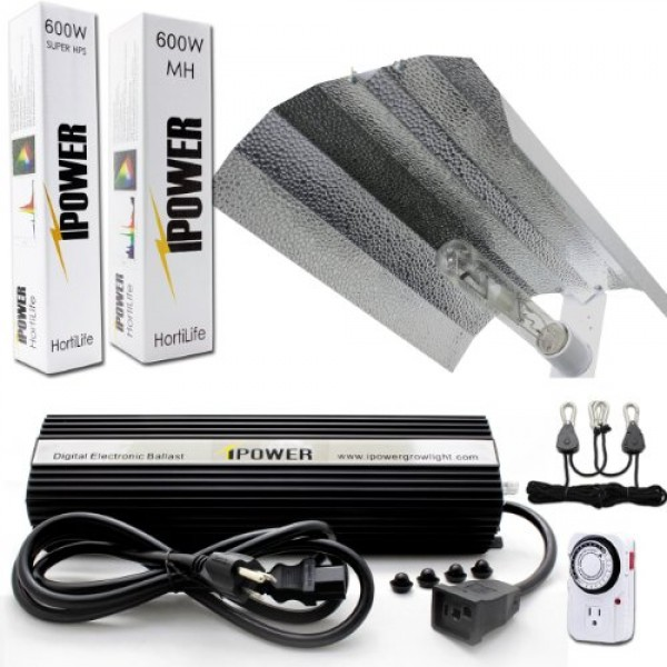 iPower 600 Watt HPS MH Digital Dimmable Grow Light System Kits Win...