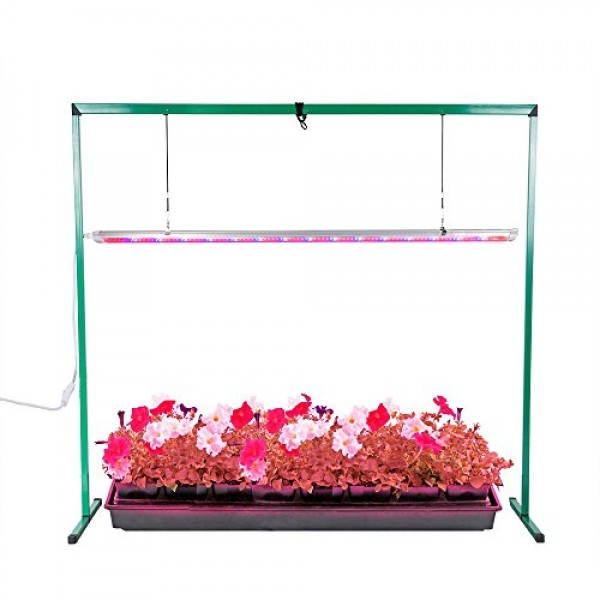 iPower 36W 4 Feet LED Grow Light Stand Rack for Seed Starting Plan...