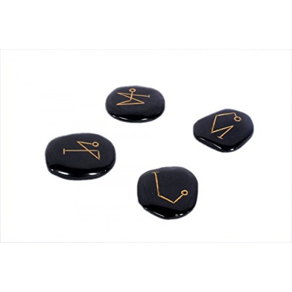 Black Jasper Archangel Flat Tumbled Stones Genuine Wiccan Pagan Po...