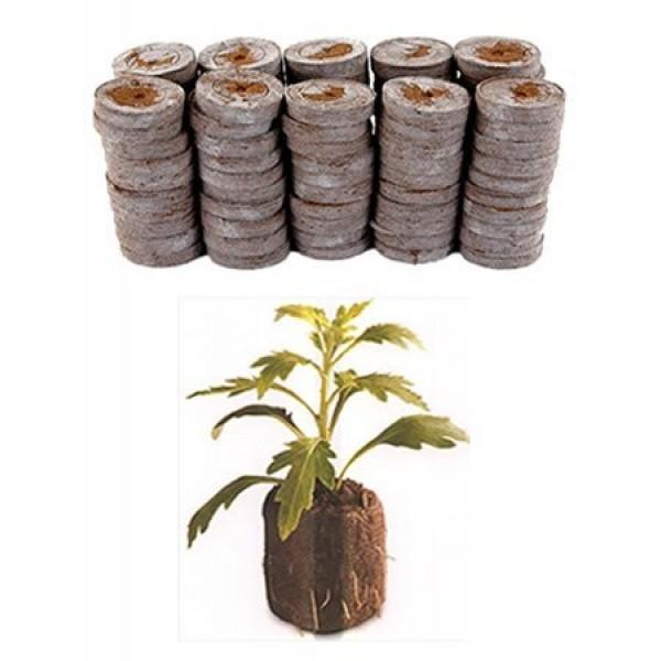 100 Count- Jiffy 36 MM Peat Soil Pellets