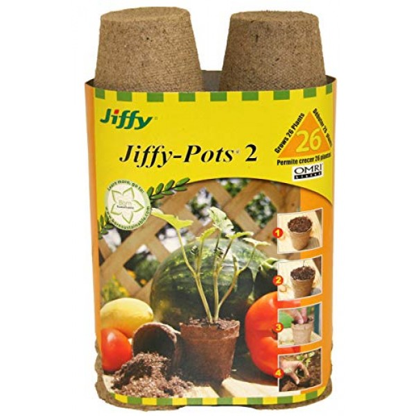 Jiffy 100055665 033349412142 Ferry Morse 5214 26-Count 2-1/4-Inch ...