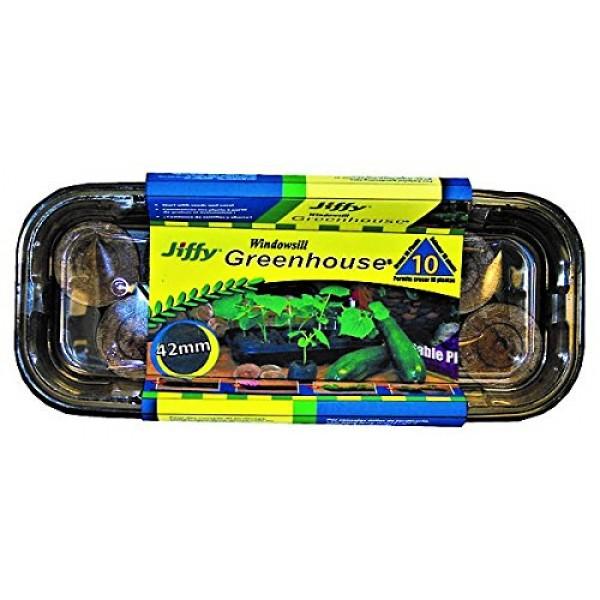 Jiffy J410 Seed Starter Kit, Clear/Black
