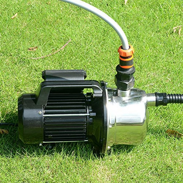 1 HP Shallow Well Pump by Lanchez Portable Stainless Steel Water T...