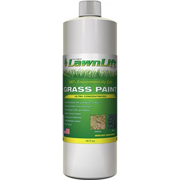 Lawnlift Ultra Concentrated Green Grass Paint 16oz. = 1.375 Gall...