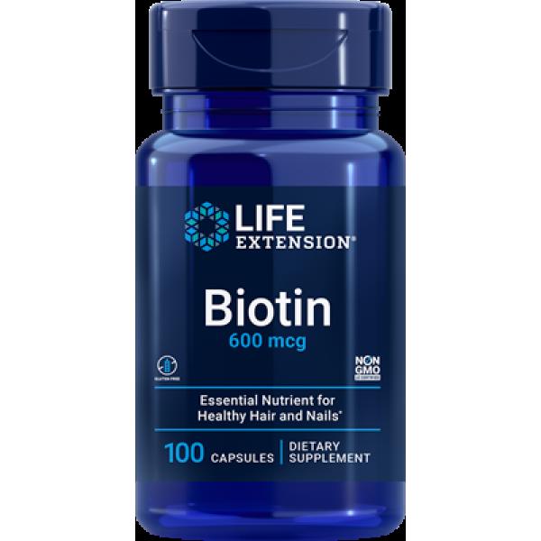 Life Extension Biotin, 600 mcg, 100 capsules