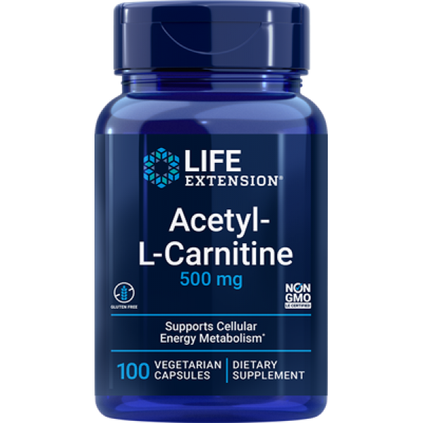 Life Extension Acetyl-L-Carnitine, 500 mg, 100 vegetarian capsules