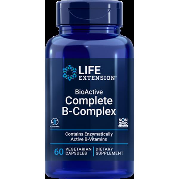Life Extension BioActive Complete B-Complex, 60 vegetarian capsules