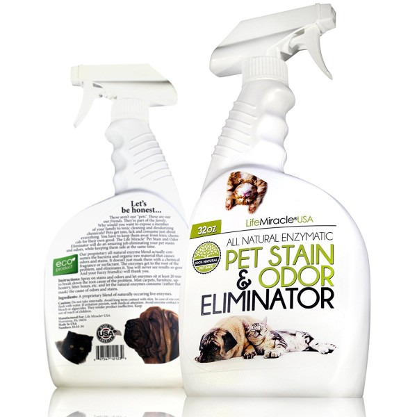 Life Miracle USA Natural Enzyme Cleaner - Safe, Non-Toxic Pet & Laundry Stain Remover
