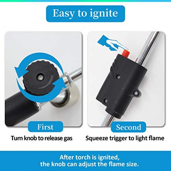 32 Propane Weed Torch Burner,Blow Torch with Trigger Start and F...