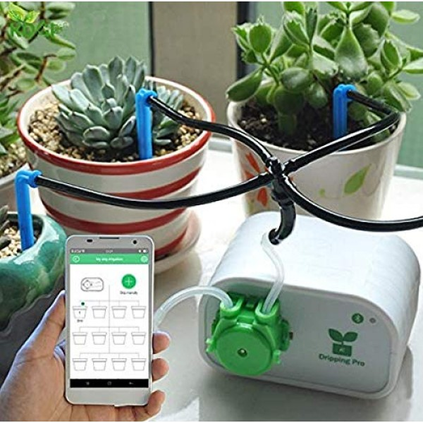 Cell Phone Control Intelligent Garden Automatic Watering Controlle...