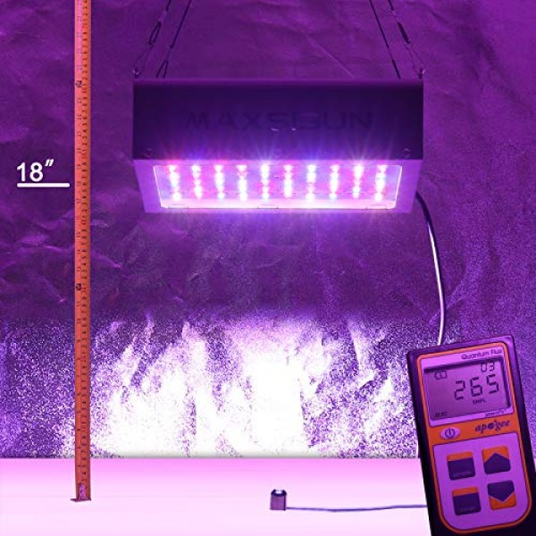 MAXSISUN 600W LED Grow Light, Full Spectrum LED Grow Lights for In...