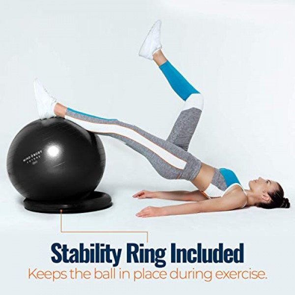 Exercise Ball Chair - Yoga Ball & Stability Ring. For Pregnancy, B...