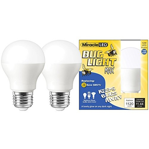 Miracle LED Yellow Bug Light MAX - Replaces 100W - A19 Outdoor Bul...