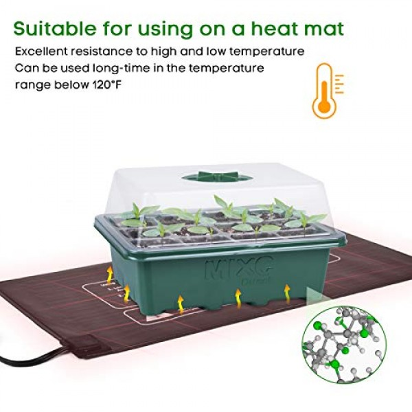 10-Pack Seed Trays Seedling Starter Tray, MIXC Humidity Adjustable...