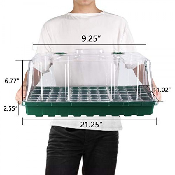 MIXC 1020 Flat Trays with Humidity Dome Germination kit Seed Start...