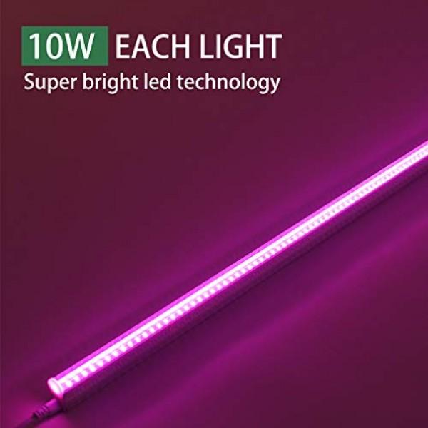 [6-Pack] LED Grow Light Strips for Plants 2FT, 60W 6 x 10W t5 Hi...