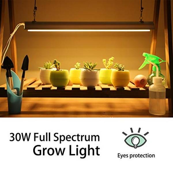 Monios-L T5 LED Grow Light, 2FT Full Spectrum Sunlight Replacement...