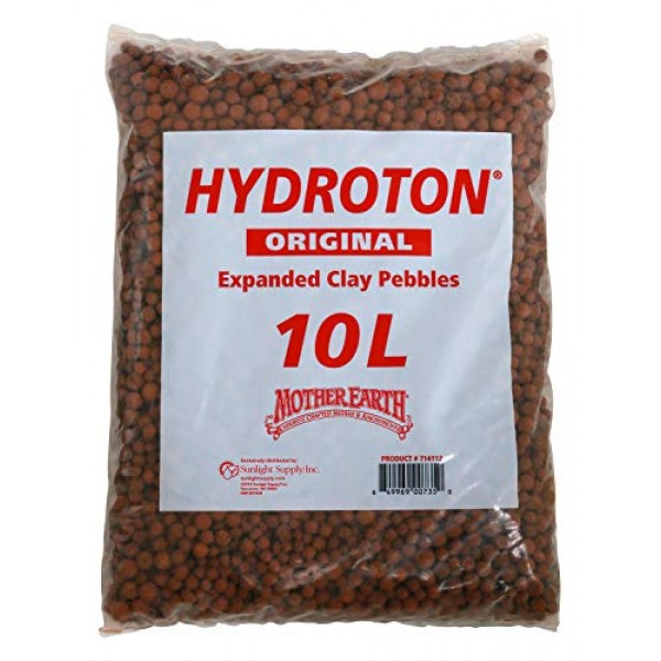 Hydroton Original Clay Pebbles - 10 Liter | Lightweight Expanded C...