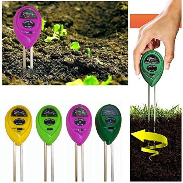 MTB 3-in-1 Soil Tester Kit for Moisture, Light & PH Soil Meter, Pa...