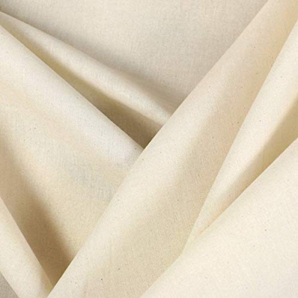 Mybecca 100/% Cotton Muslin Fabric//Textile Unbleached 5.25 Feet x 3 Feet Draping Fabric Wide: 63 inch Natural 1-Yard 63 x 36 Medium Weight